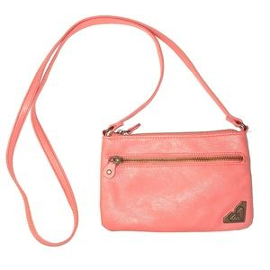 Roxy Small Crossbody Clutch/Wristlet Womens Coral